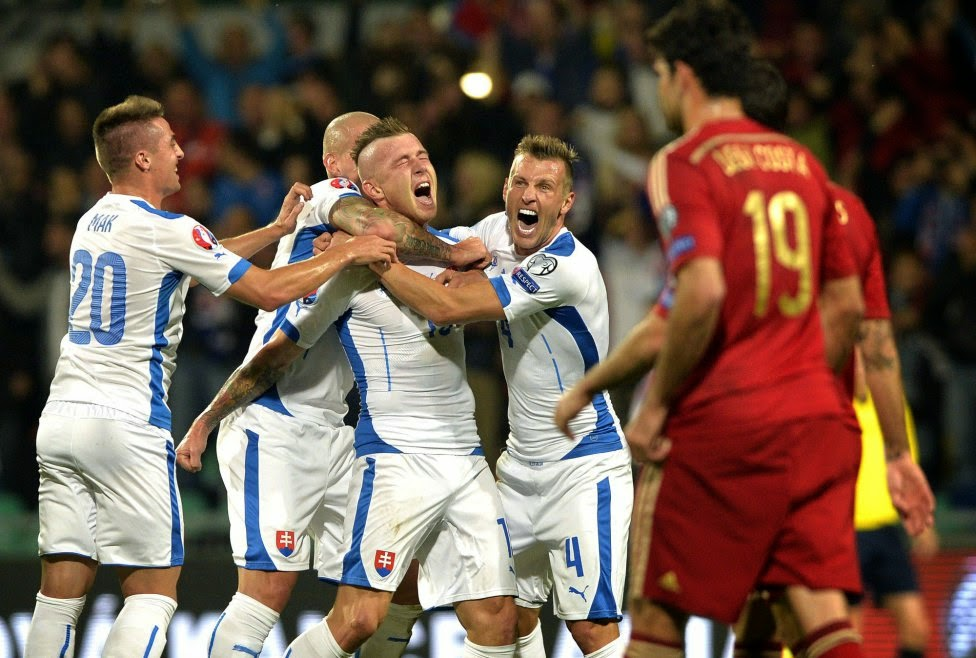 Slovakia vs Spain group c euro2016