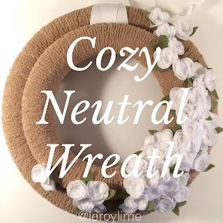 Cozy Neutral Chenille Wreath - LeroyLime