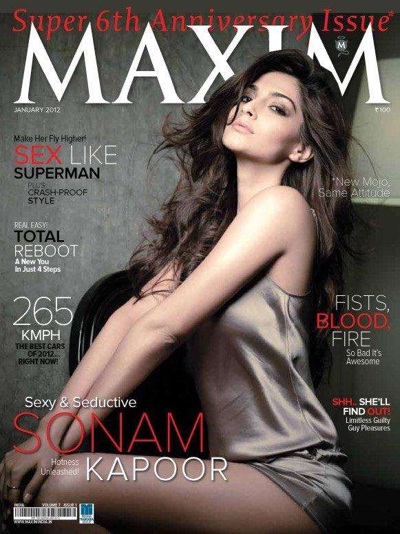 Sonam Kapoor Maxim Jan 2012 Cover1 - Sonam Kapoor Maxim Cover Scan - 2012