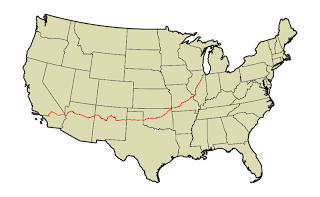 Map of Route 66