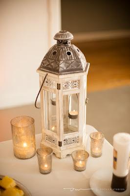 white lantern on pink linen, wedding lanterns, mercury candles