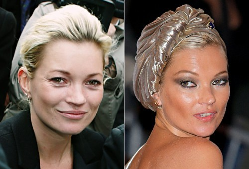 Kate Moss sans maquillage