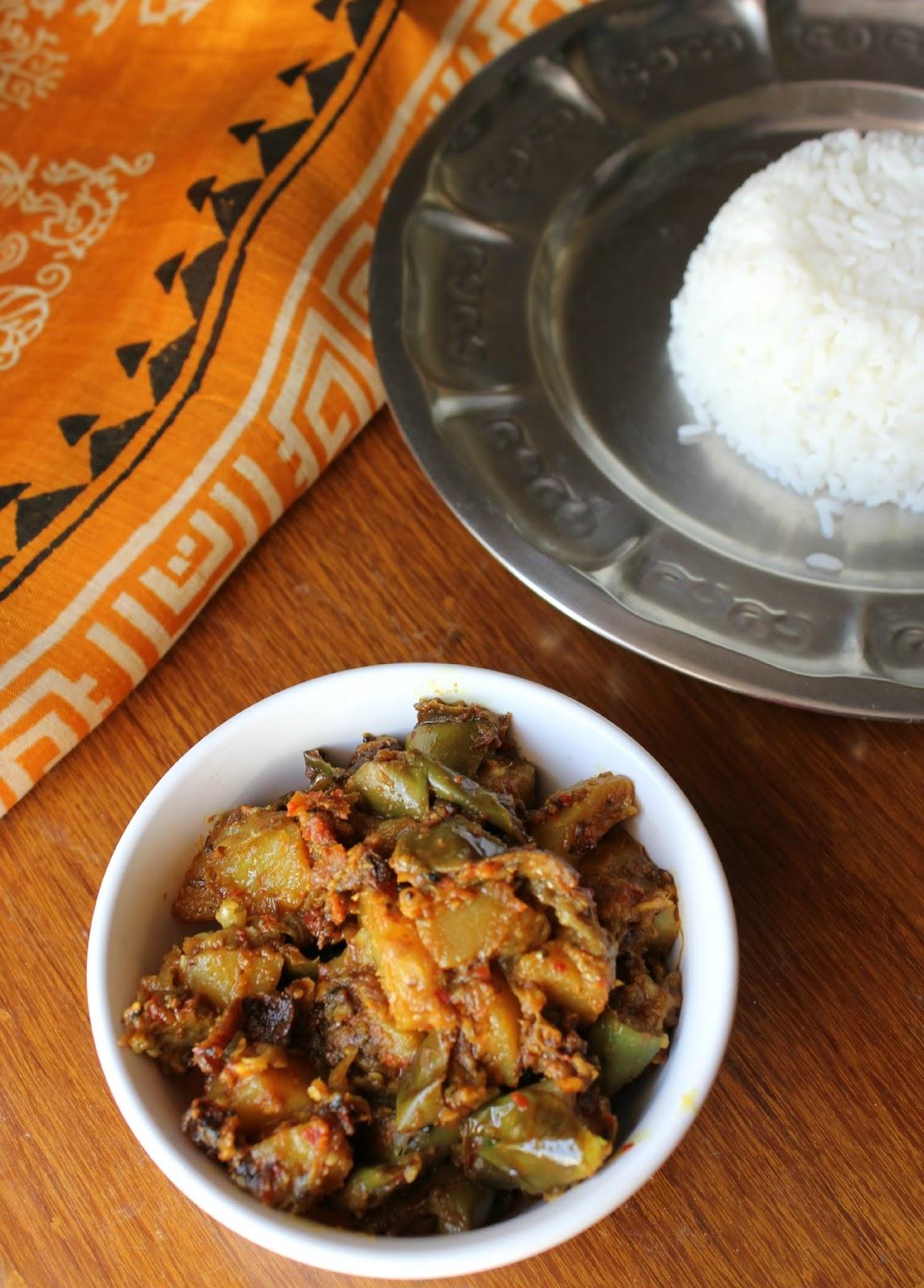 Food better be good labra assamese vegetable curry for Assamese cuisine