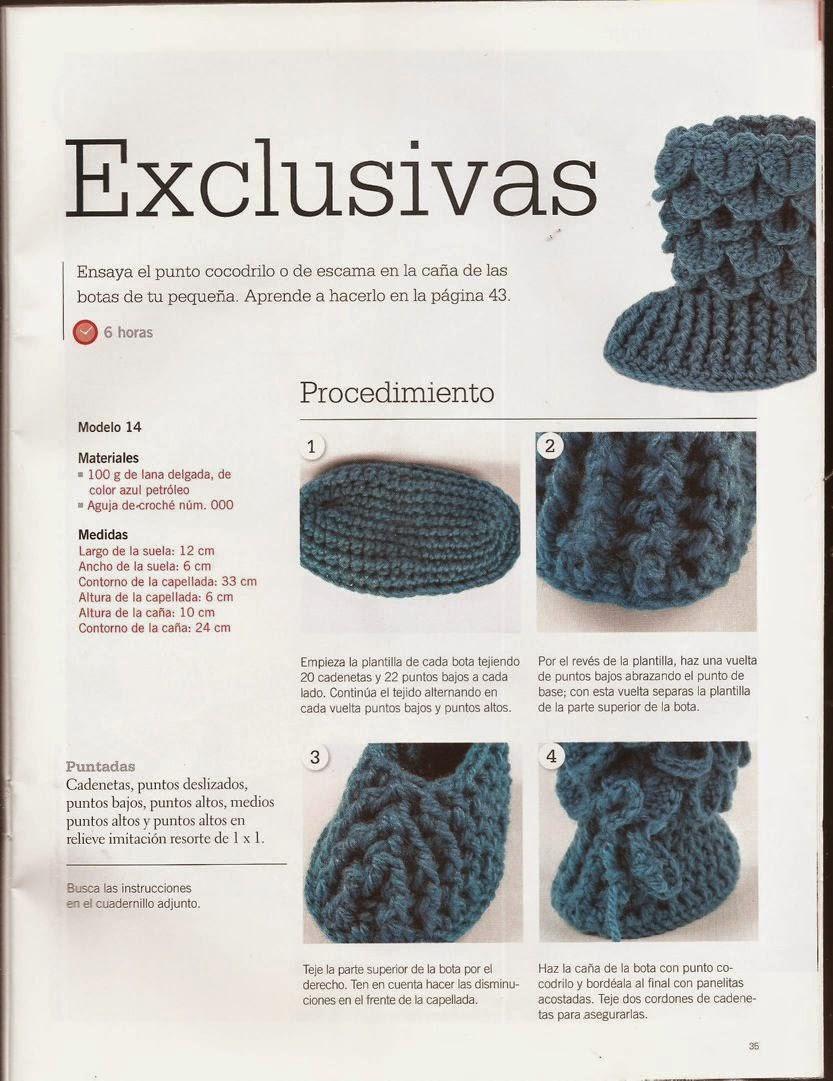 Asombroso Zapatilla De Niño Patrón De Crochet Libre Motivo - Manta ...