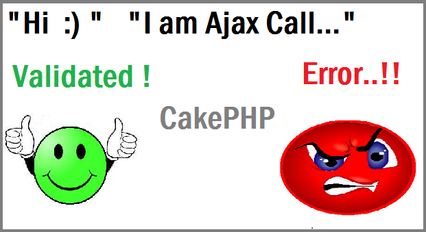 ajax call validation in cakephp