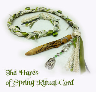 The Hares of Spring Ritual Cord from MoonsCrafts in green )0(