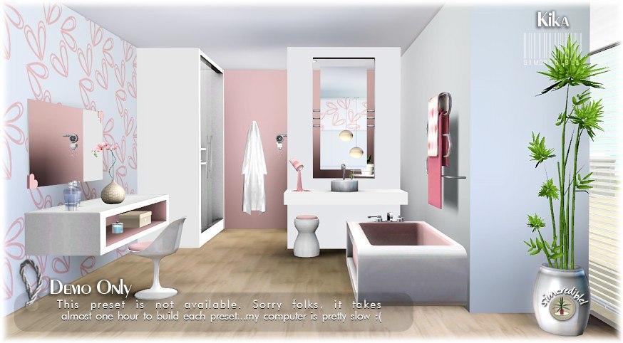 My sims 3 blog kika bathroom set by simcredible designs for Bathroom ideas sims 3