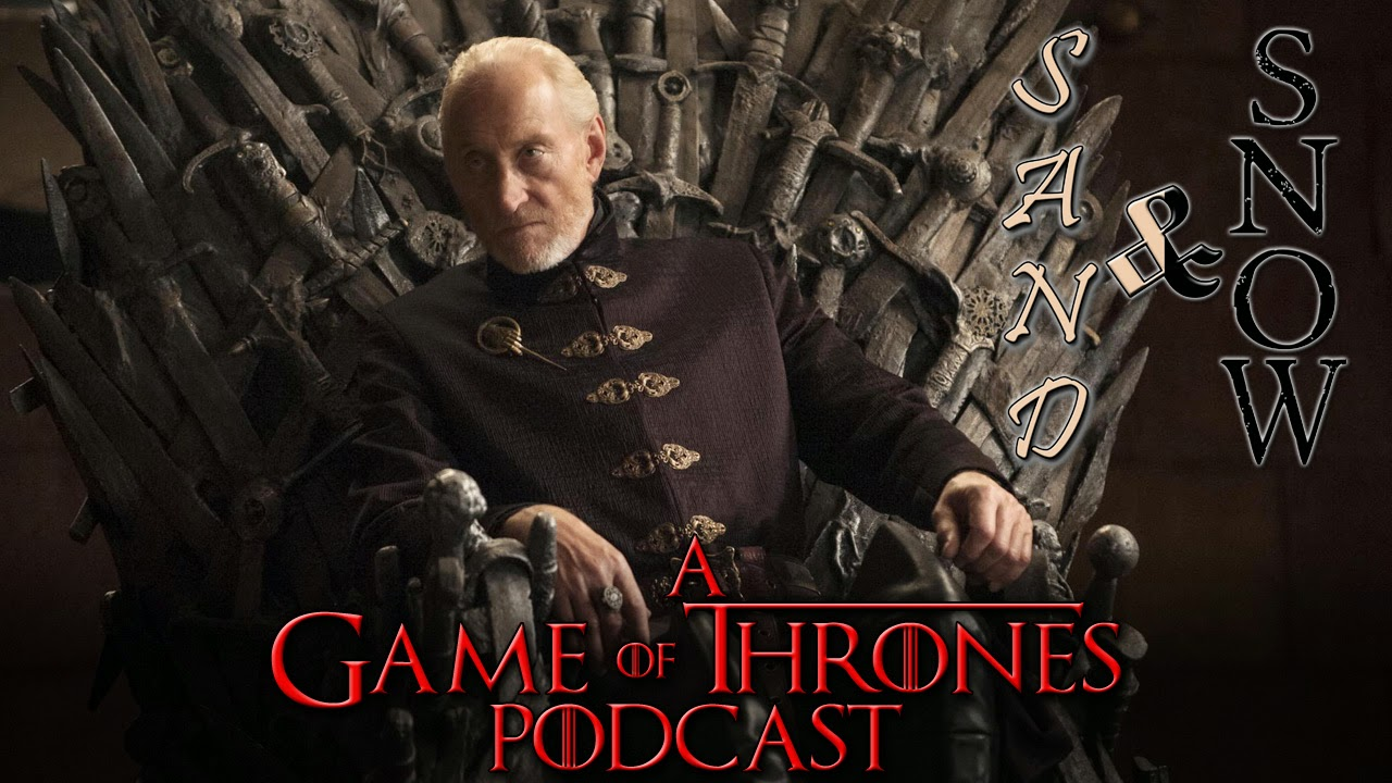 Charles Dance as Tywin Lannister on the Iron Throne Game of Thrones Wallpaper