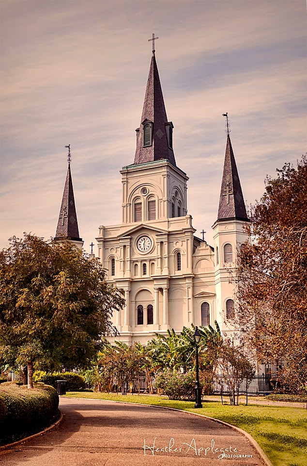 St Louis Cathedral by Heather Applegate
