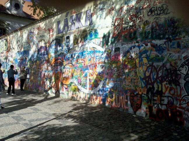 The John Lennon Peace Wall | Prague 2010