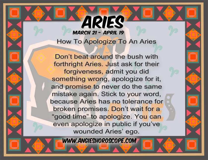How To Apologize To An Aries