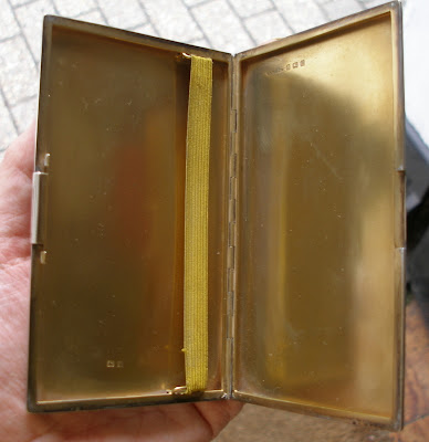 Heavy...Solid Sterling Silver Cigarette case Hallmarked Birmingham 1930 209g