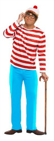 Wheres Wally Costume for Men