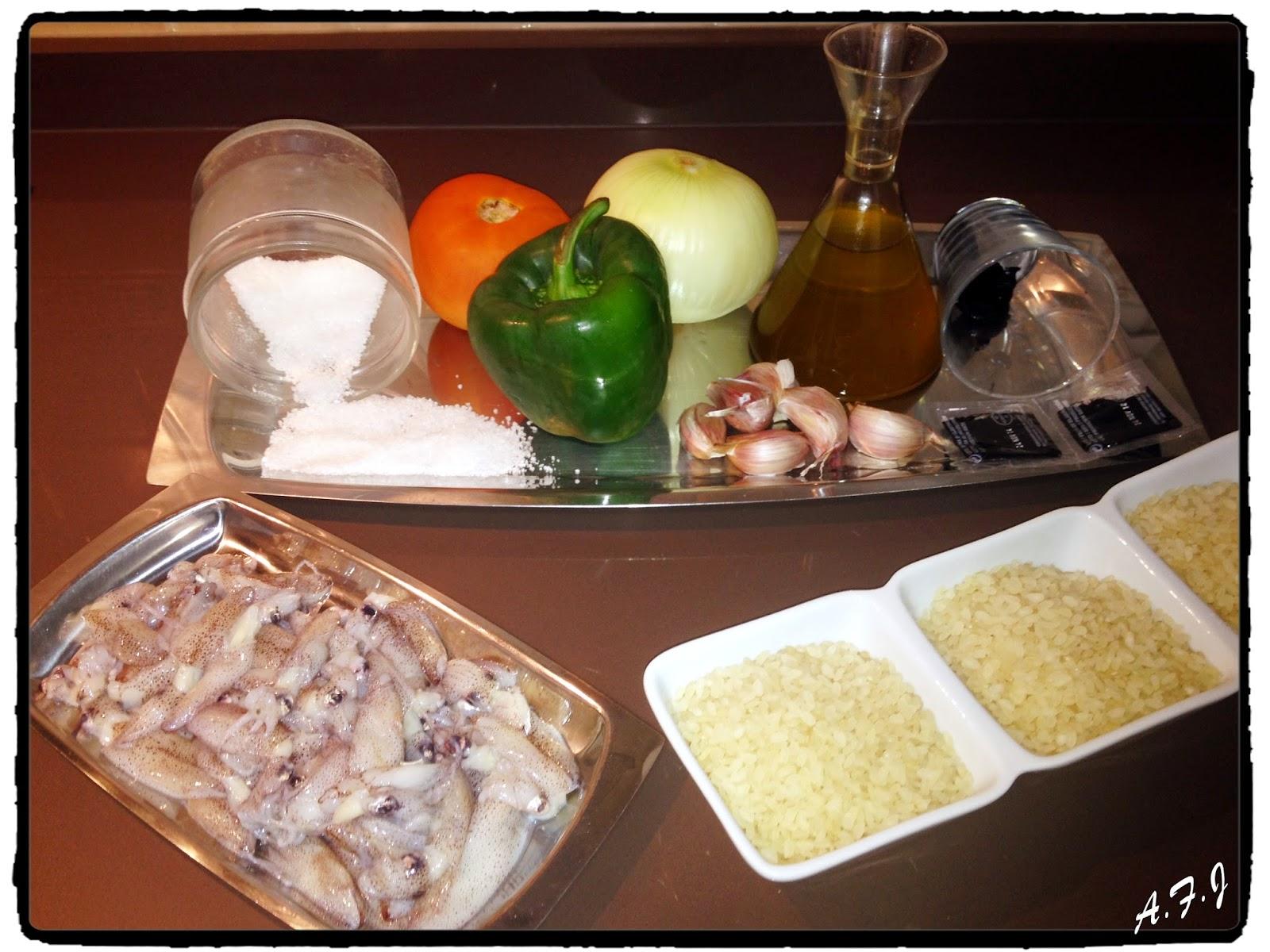 Cocina tu alegr a arroz negro de vegas altas con for Cocina con alegria