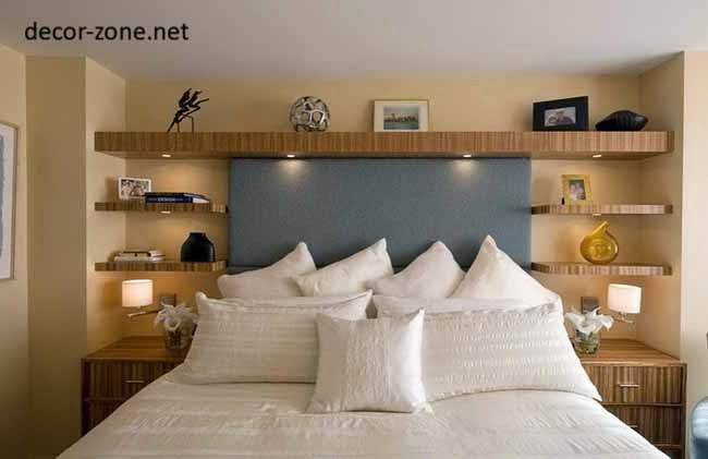 Wonderful Bedroom Shelving Ideas, Shelves Beside The Bed