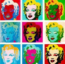 Marilyn de Warhol, imagen utilizada en el ensayo de arte Marilyn, Andy Warhol y Walter Benjamin realizado por Juan Sánchez Sotelo para la Academia de dibujo y pintura Artistas6 de Madrid.