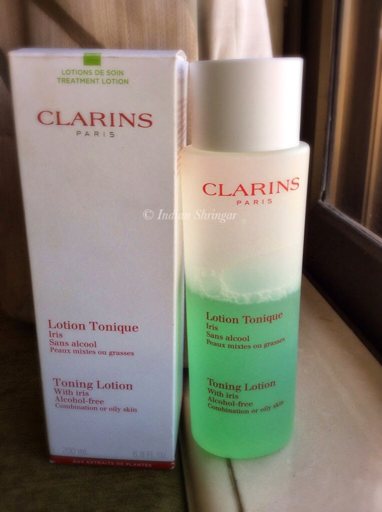 Clarins Toning lotion with Iris (alcohol free)