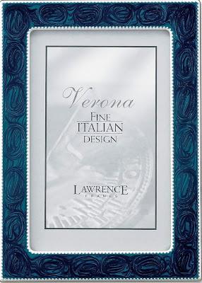 frames silver metal 5x7 navy enamel picture frame
