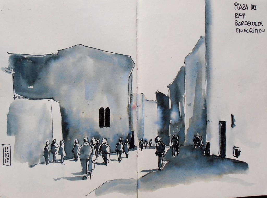 Urban sketchers spain el mundo dibujo a dibujo tres - Casco antiguo de barcelona ...
