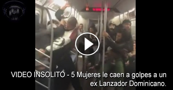 VIDEO INSÓLITO - 5 Mujeres le caen a golpe a un ex Lanzador Dominicano,