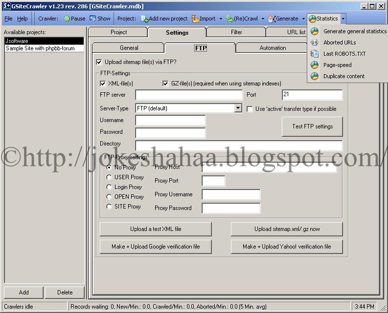 GSiteCrawler_Sitemap_Generator_for_Google_Yahoo!_MSN_Statistics
