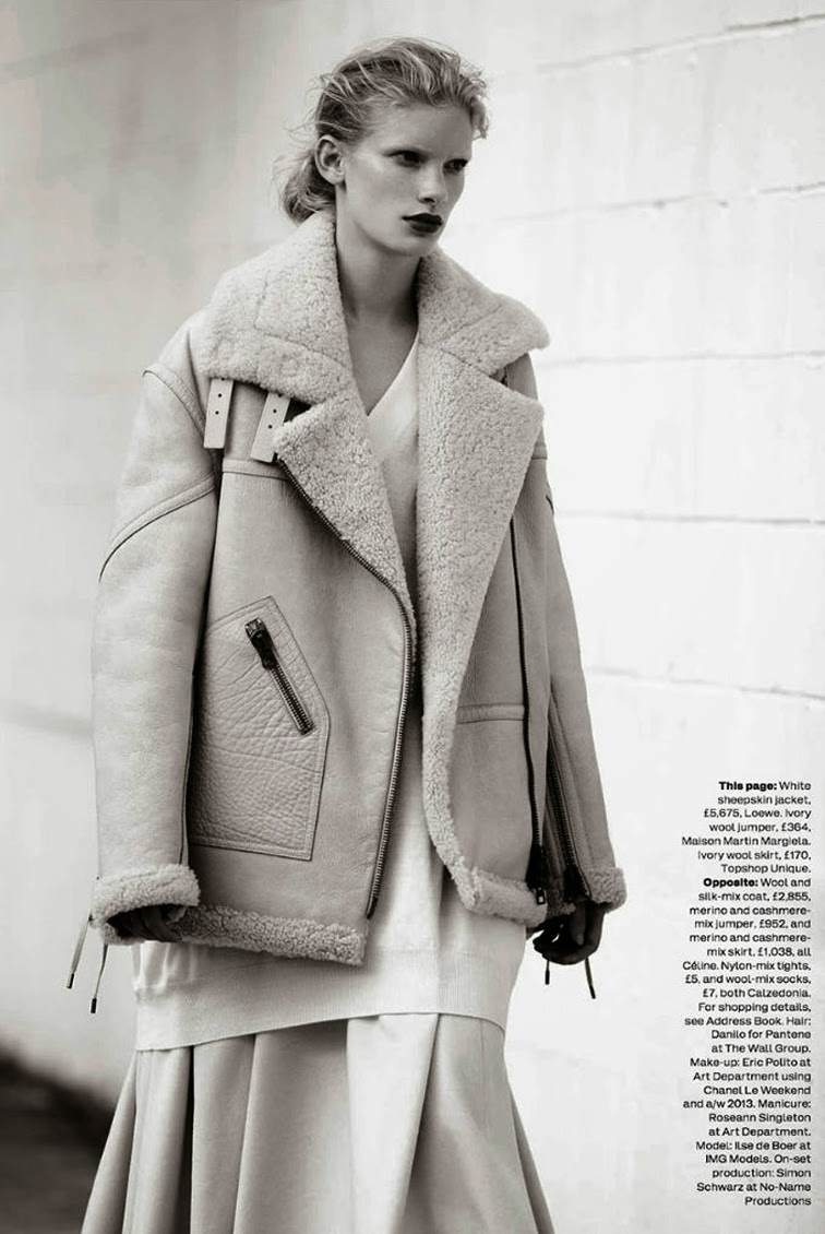 Ilse De Boer By Bruno Staub for Uk Elle October 2013 Maison Martin Margiela jacket