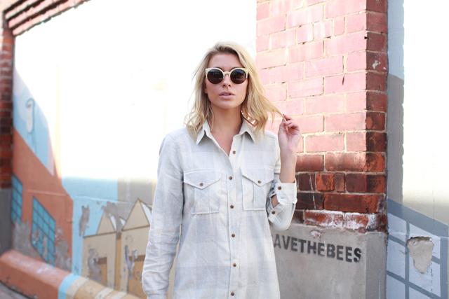 Aritzia Veronica Dress, Flannel Shirtdress