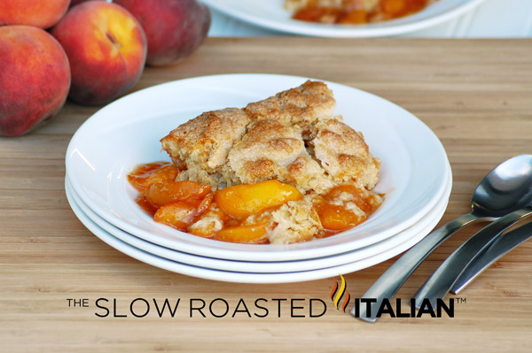 The Slow Roasted Italian - Printable Recipes: Southern Peach Cobbler