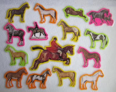 horses felt board