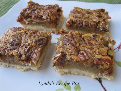 Lynda's Recipe Box: Pecan Pie Bars