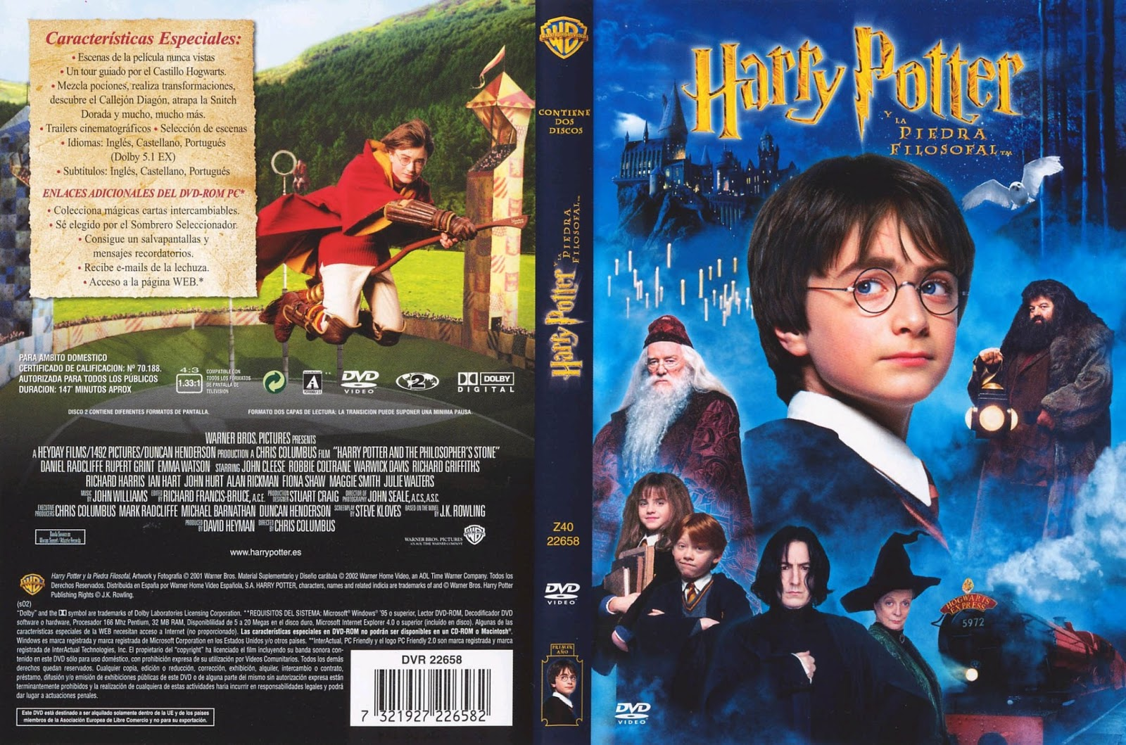Harry Potter y la Piedra Filosofal DVD