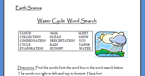 Classroom Freebies: Science Freebie: Water Cycle Puzzle