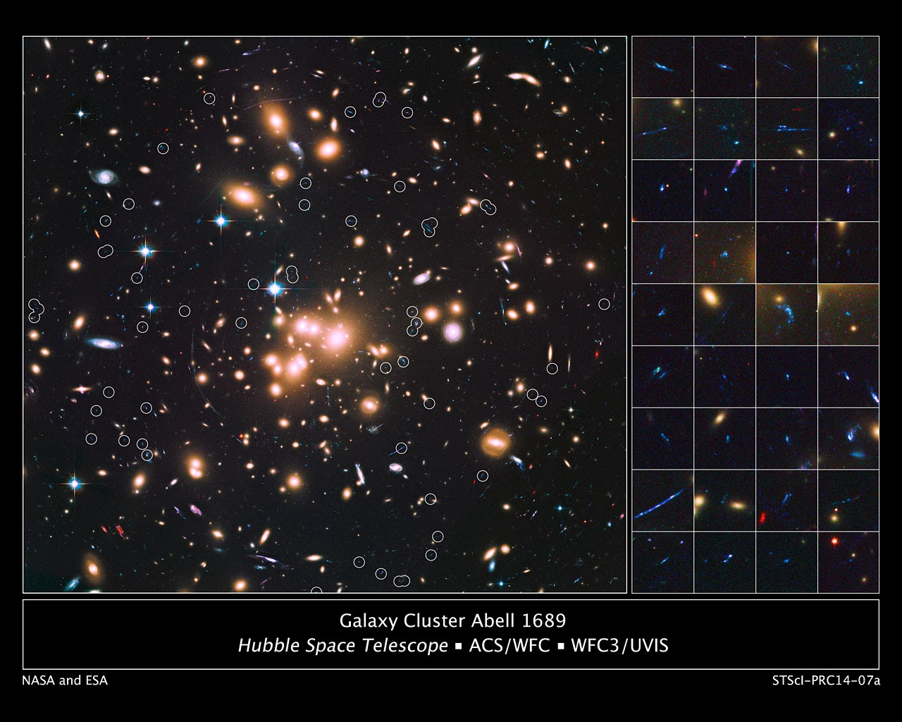 Lammasso Di Galassie Abel 1689 Aiuta Il Telescopio Spaziale Hubble