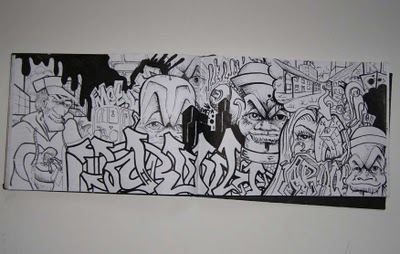 Graffiti Mawor Indilabel Graffiti Sketch Binber Block U0026gt; Black White