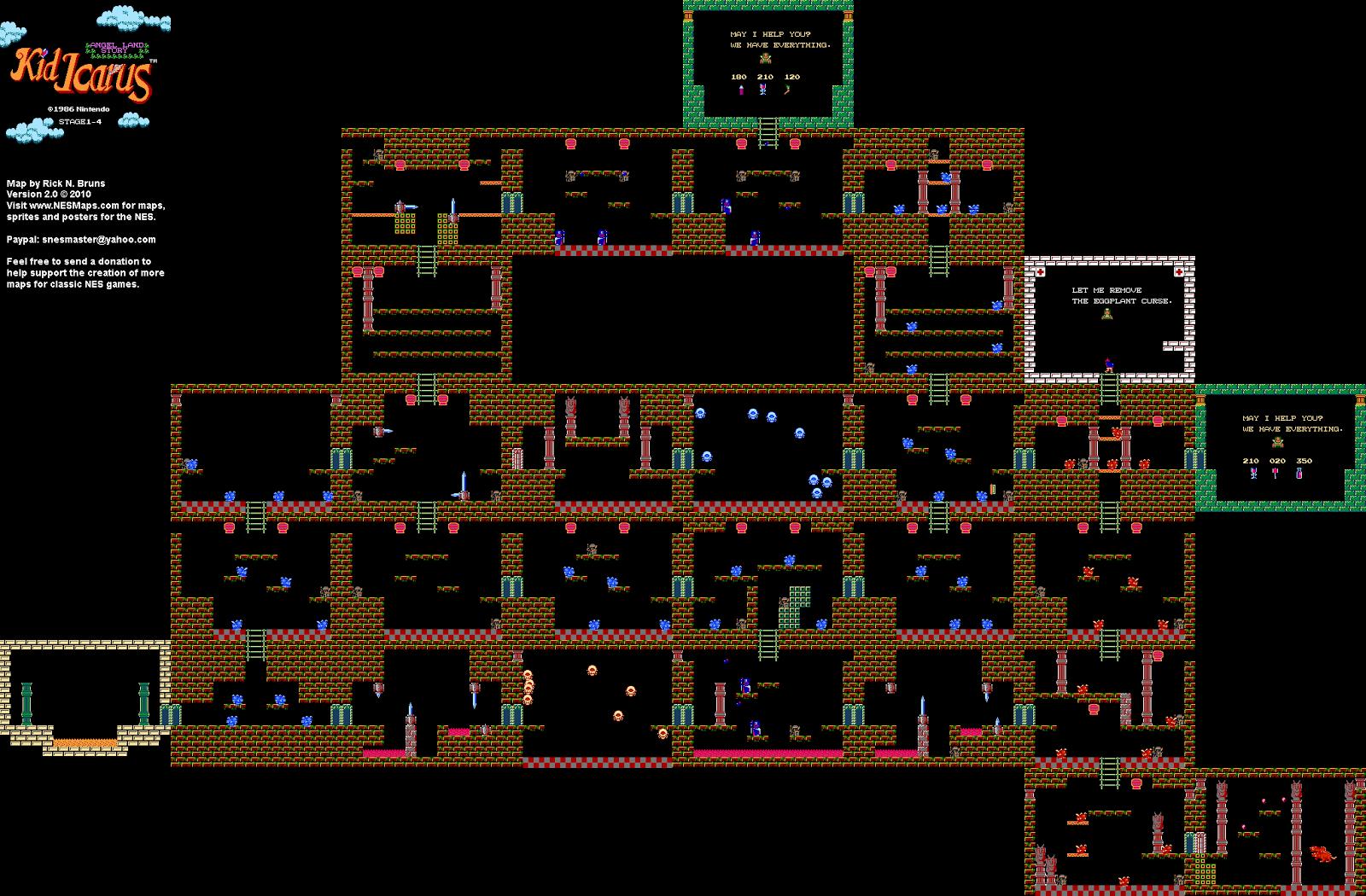 Kid Icarus Level   Map