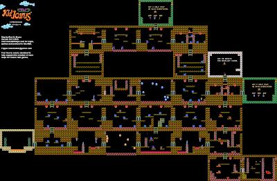 Le plan du donjon 1-4 dans Kid Icarus sur Nes