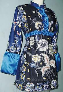 blus Batik muslim modern model terkini