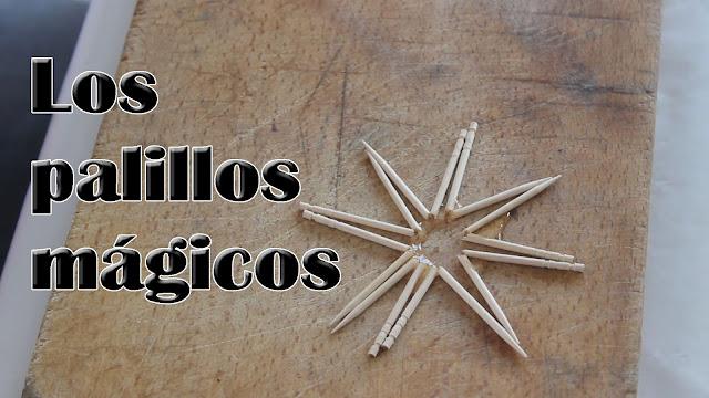 Experimentos Caseros palillos mágicos estrella