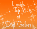 I Made Digi Galore's Top 3!