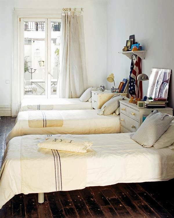 dormitorio juvenil estilo shabby chic
