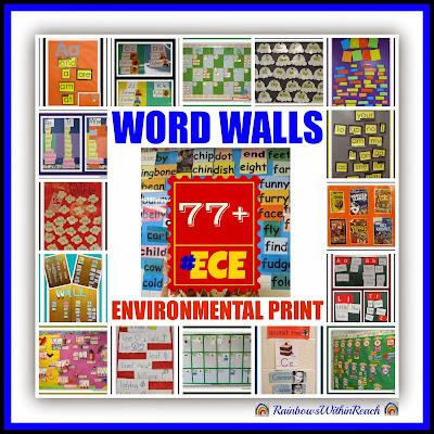 Word Walls & Environmental Print RoundUP at RainbowsWithinReach