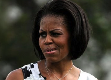 Michelle Obama gives a stinkface