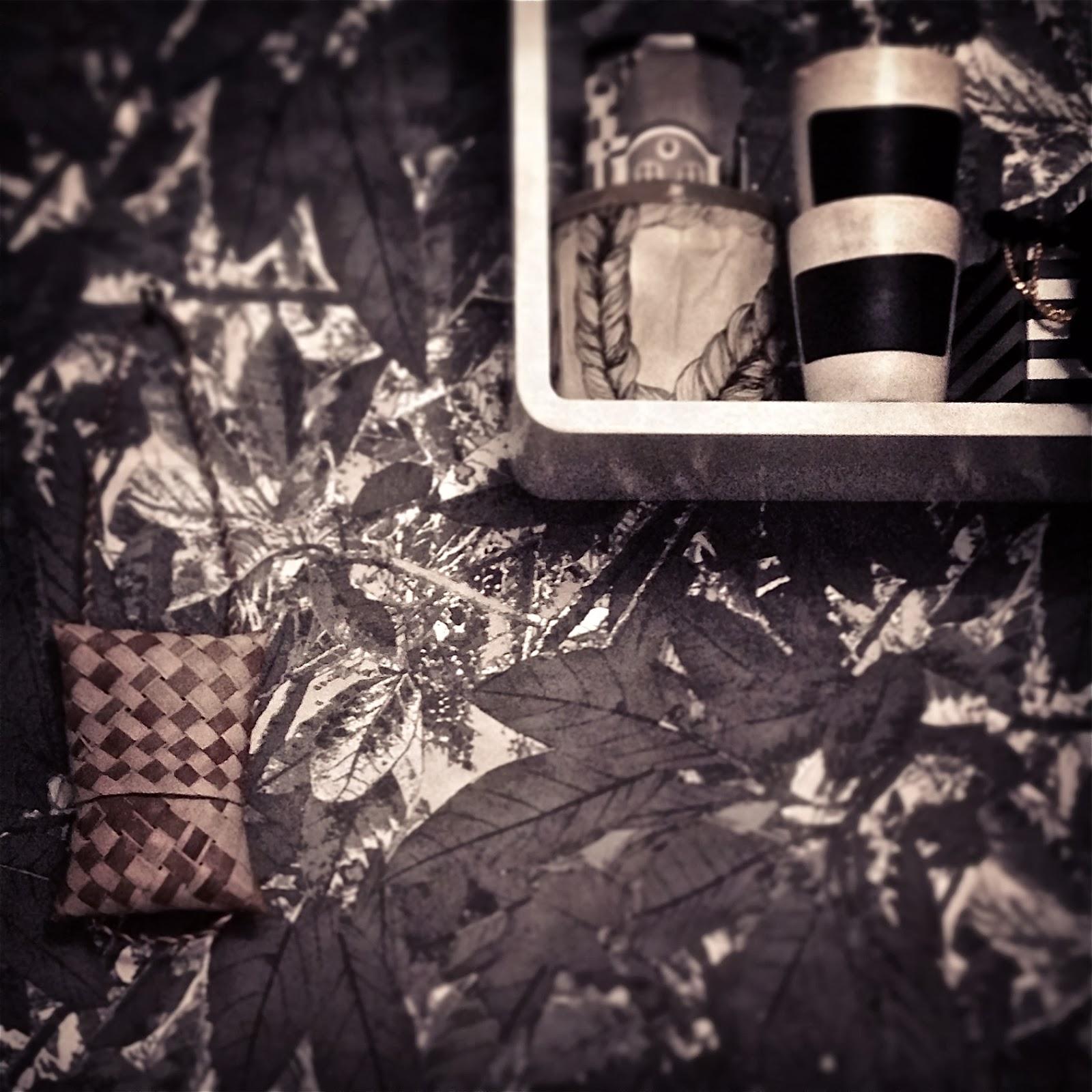 Tuohi laukku, Näver väska, Birchbark bag, Olo-huone