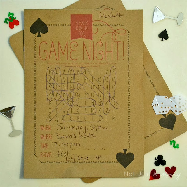 Ladies' Game Night Out invites