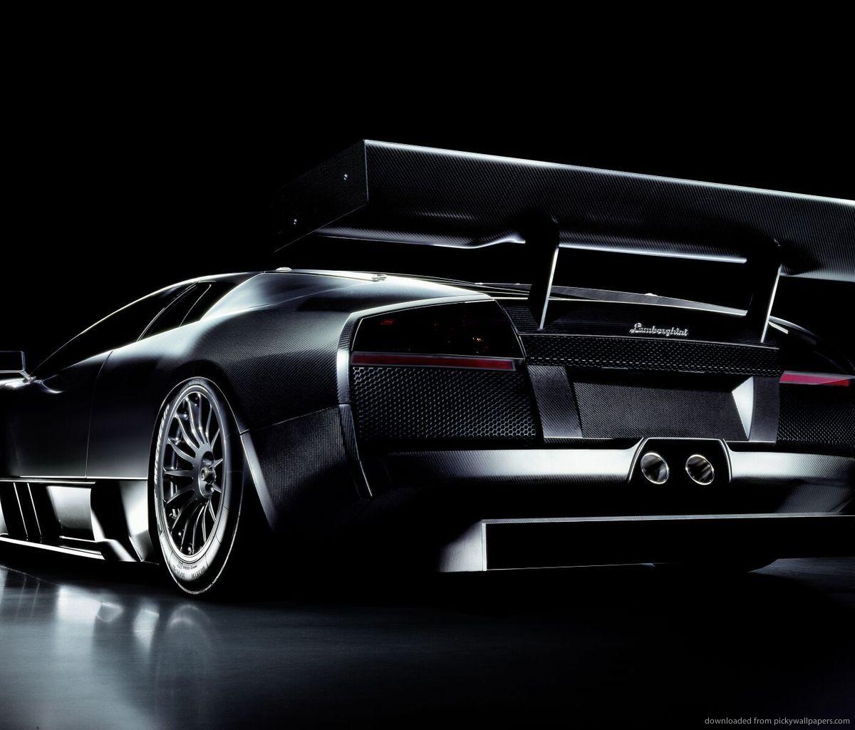 Lovely Black Lamborghini Murcielago Wallpaper