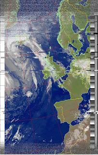 RTL-SDR, SDRSharp, WXtoImg, Turnstile, Software Defined radio, weather satellite image