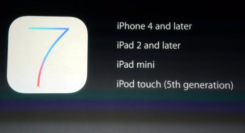 Stilata la lista dei device dell'azienda di cupertino che saranno compatibili con il nuovo sistema operativo iOS 7
