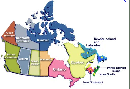 Canada Map Of States