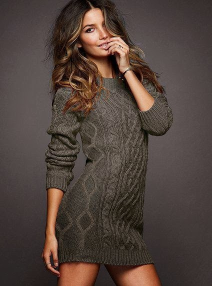 Adorable grey long sweater for fall