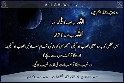 Allah Ka Darrr Aur Dar - Maulana Zulfiqar Ahmad, Nice Urdu Lines, Aqwal e Aulia